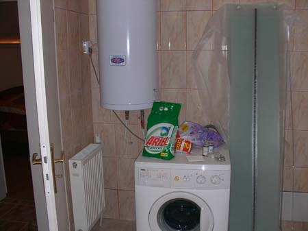 bathroom washing machine